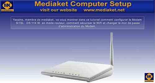 Configurer le mode SITEL DS 114 W